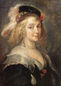 Exemple de crêpe couvrant les épaules et le décolletés. Jan Boeckhorst, Helene Fourment, vers 1630, @WikiCommons