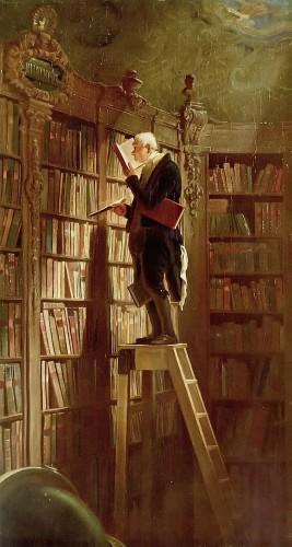 Carl Spitzweg, Der Bücherwurm, ca. 1850, Georg Schäfer Museum @WikiCommons